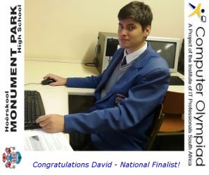 David Woodall Olympiad Finalist Website